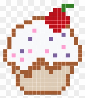 Cup Cake Minecraft Cake Pixel Art Free Transparent Png Clipart