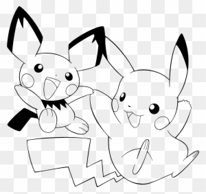 Anime Clipart Pikachu - Pokemon Coloring Pages Pikachu Cute - Free ...