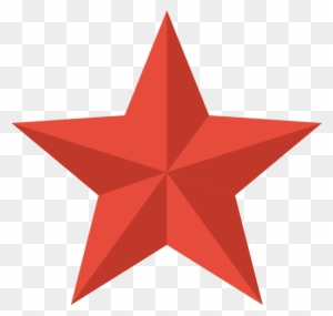 Red Christmas Star Clipart - Star Icon