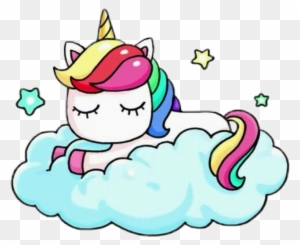 Unicorn Donut Kawaii Rainbowfreetoedit Unicornio Con Una