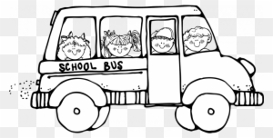School Bus Clipart Black And White Transparent Png Clipart Images