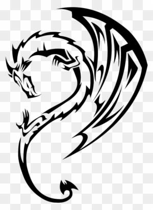 Tribal Dragon Clipart Best Dragon Tattoos Free Transparent Png