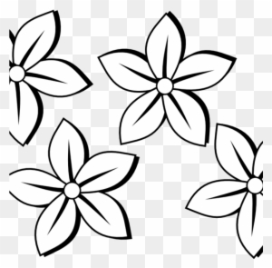 Flower Clipart Black And White Free Flowers Clip Art Black And