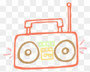 Boombox clipart black and white, Boombox black and white Transparent FREE  for download on WebStockReview 2020