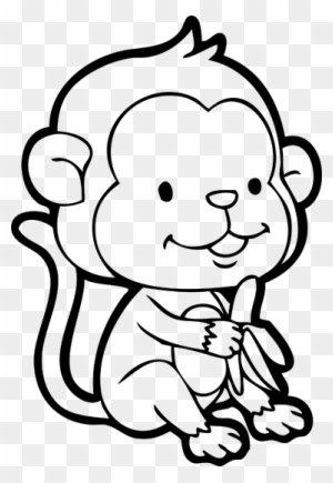 Monkey Cartoon Drawing Chimpanzee Clip Art Simple Cartoon Monkey