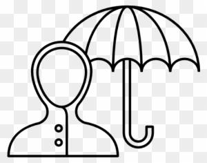 Sunshade Umbrella Cover Rain Rainy Rain Cover Drawing Image