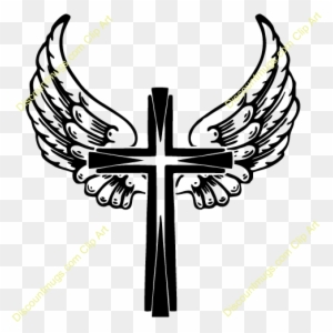 Cross With Wings Clipart Wings On A Cross Free Transparent Png
