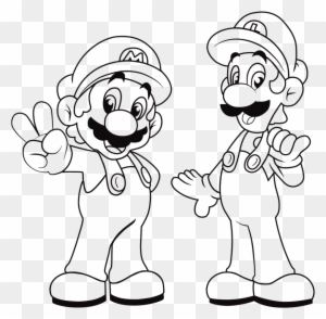 super mario and luigi coloring pages