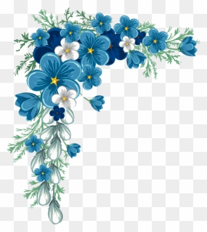 Beautiful Corner Layout Blue Flower Corner Border Free Transparent Png Clipart Images Download,Master Bedroom Simple Bedroom Designs India