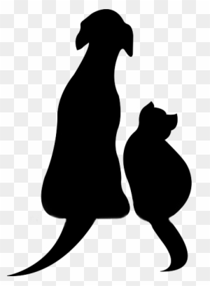 Cat And Dog Silhouette Clip Art Transparent Png Clipart Images Free Download Clipartmax
