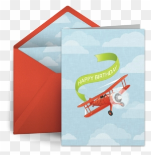 A Vintage Inspired Airplane Free Birthday Card