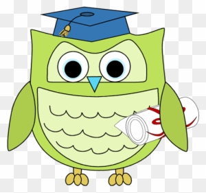 Graduation Owl With Diploma Clip Art