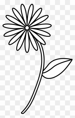 Flower Line Drawing Clip Art Free Transparent Png Clipart Images Free Download Clipartmax
