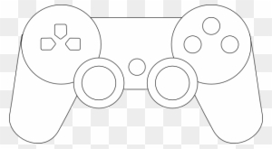 Ps3 Controller Clip Art Easy Game Controller Drawing Free