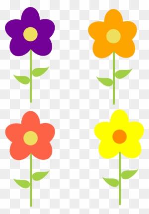 Small Spring Flowers Clip Art Desenho Flor Amarela Png Free