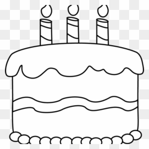 Birthday Cake Clipart Black And White Small
