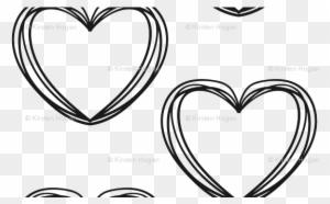 Valentine's Day Black And White Heart Stripes Cute - Cute Black And White Heart