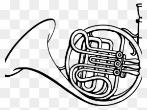 Horn Music Coloring Pages coloring page & book for kids. | 225x300