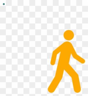 One Man Walking Vector - People Walk Icon Png - Free ...