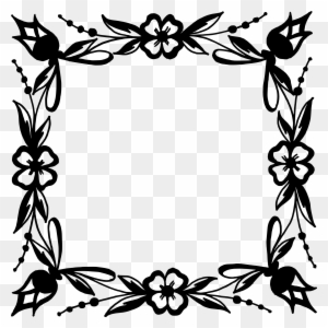 Flower Frame Vector Black And White - Flowers Healthy