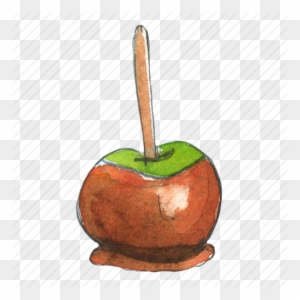 Caramel Apple Watercolor Clipart Candy Apple Caramel Watercolor Caramel Apple Free Transparent Png Clipart Images Download