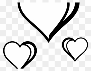 Download Heart Clipart Black And White - Valentine's Day Hearts Clipart Black And White