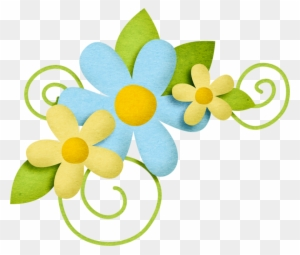 Yellow Flower Clipart Scrapbook Png Scrapbook Flower Png Free