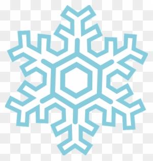 Blue Snowflake Clipart Free - Winter Snowflake Clipart, HD Png Download ,  Transparent Png Image - PNGitem