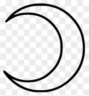Half Moon Coloring Pages Crescent Moon Symbol Free Transparent