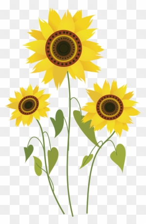 Free Black And White Sunflower Clipart Image Five Petals