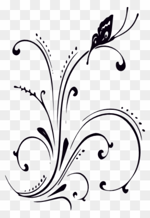 Butterfly Clipart Border Black And White Butterfly Black And White