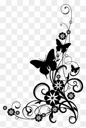 free flower clipart borders transparent clipart images free Transparent Flower Border Clip Art white flower clip art at clker flowers clip art black and white border