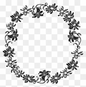 Clipart Borders Black And White Floral Border Png Free