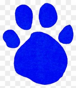 Comely Blue Paw Print Clip Art Medium Size - Blue's Clues ...