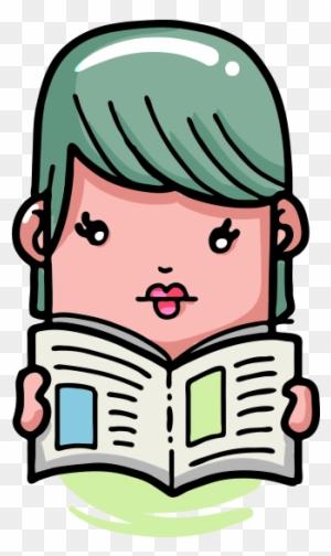 Clipart şaşkın Kitap Okuyan çocuk Kitap Okuyan çizgi Film