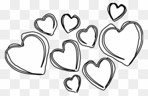 Heart Clipart Black And White - Valentines Day Clipart Black And White