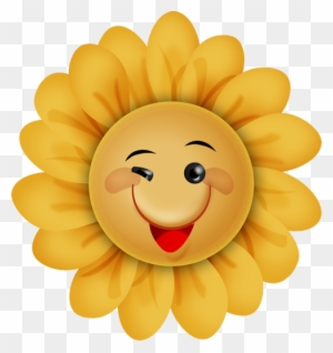 Smiley Flower Cliparts 11, - Skør Smiley - Free ...