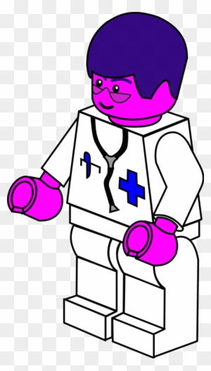 Lego Town Doctor - Lego Coloring Pages - Free Transparent PNG ...