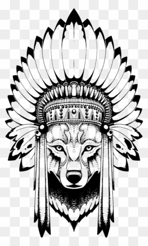2bc0e132de7 Wolf By Quidames - Wolf With Indian Headdress