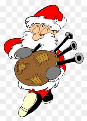 Scottish Funny Santa Christmas Image Reindeer Free - Eleven Day Of ...