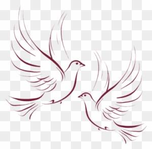 Wedding Dove Clipart Gambar Merpati Hitam Putih Free Transparent Png Clipart Images Download