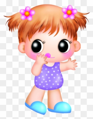 Cute And Funny Baby Girl Clip Art Images On A Transparent Cute Baby Girl Cartoon Free Transparent Png Clipart Images Download