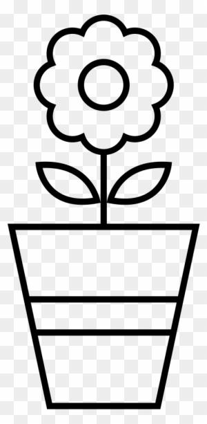 Flower Pot Coloring Page - Vaso De Flor Para Colorir - Free ...
