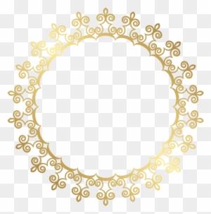 Gold Frame Border Square Golden Frame Png Free