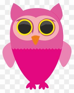 Big Bird Clipart Gambar Burung Hantu Warna Pink Free Transparent