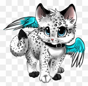 Snow Leopard Clipart Anime Baby Anime Cat With Wings