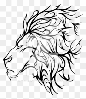 Roaring Lion Outline Lion Tattoo By Amberfanged On Transparent Lion Tattoo Free Transparent Png Clipart Images Download Learn how to draw a lion roaring step by step. roaring lion outline lion tattoo by