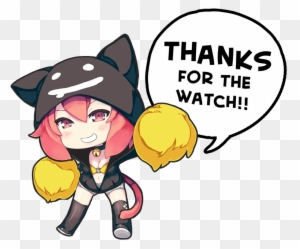 50 Watcher Milestone Chibi Neko Noire 2p Thank U By Thanks For Watching Anime Free Transparent Png Clipart Images Download