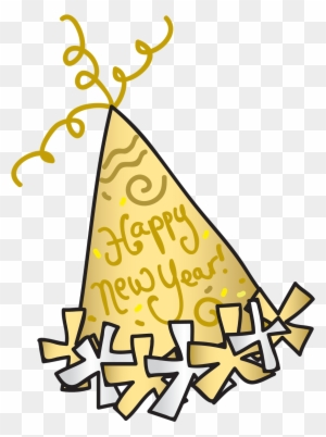 New Year Clipart For Kids Happy New Year Party Hat Clipart Png