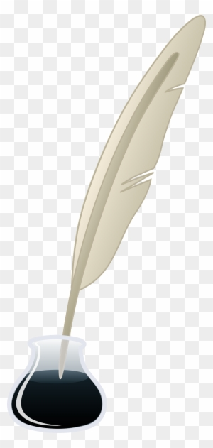 Quill Pen And Ink Bottle Ink And Pen Cartoon Free Transparent Png Clipart Images Download